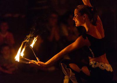 Spettacolo la luce del fuoco
