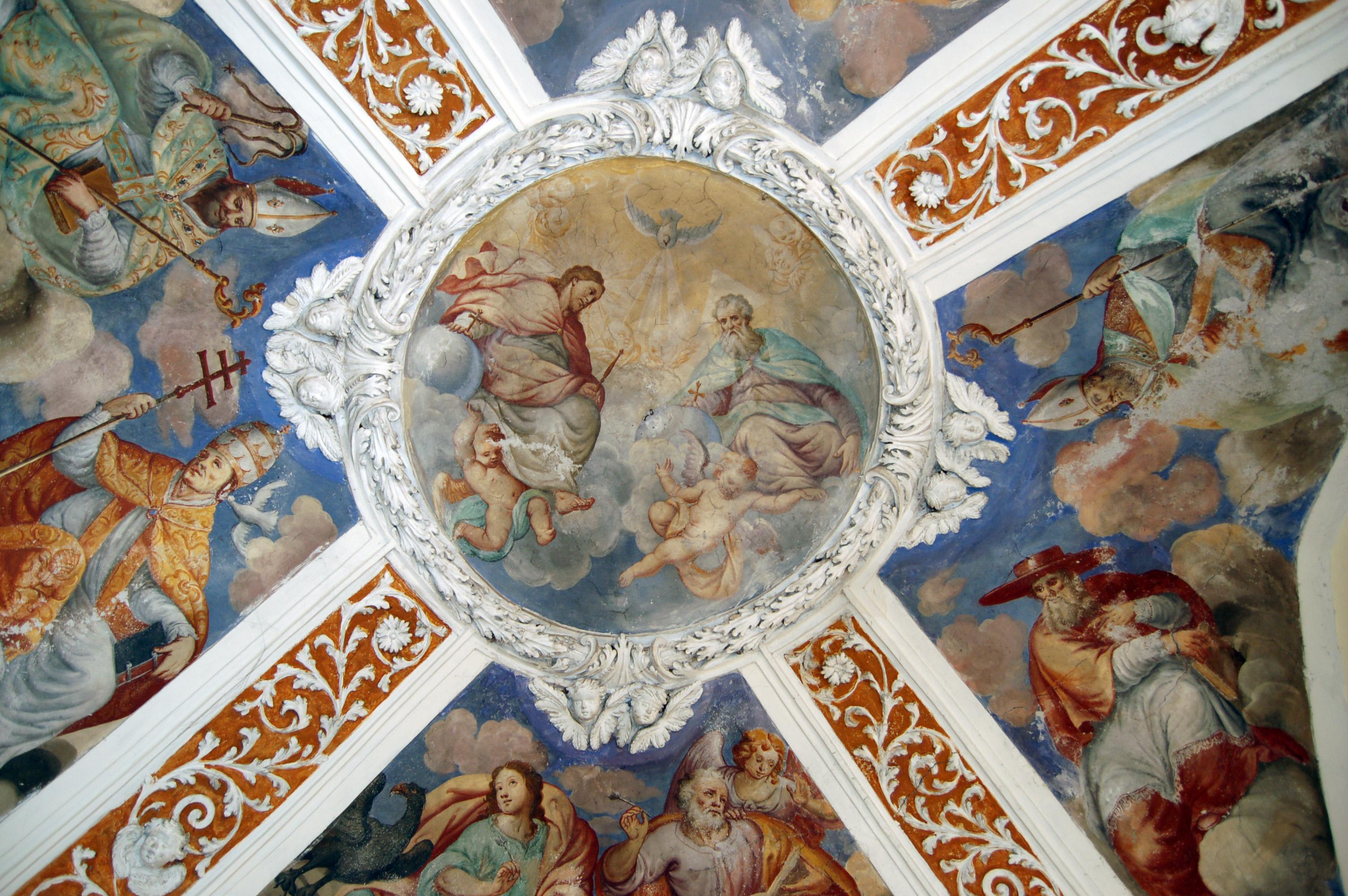 soffitto stanza dei santi a monti